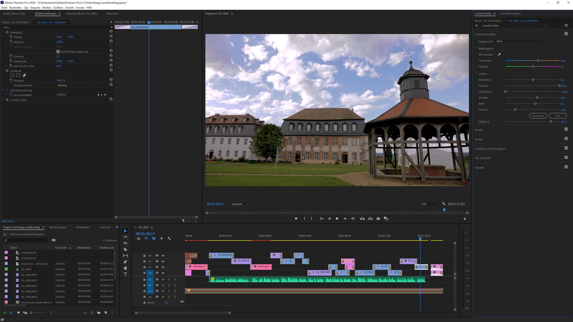 Videoschnitt in Premiere Pro